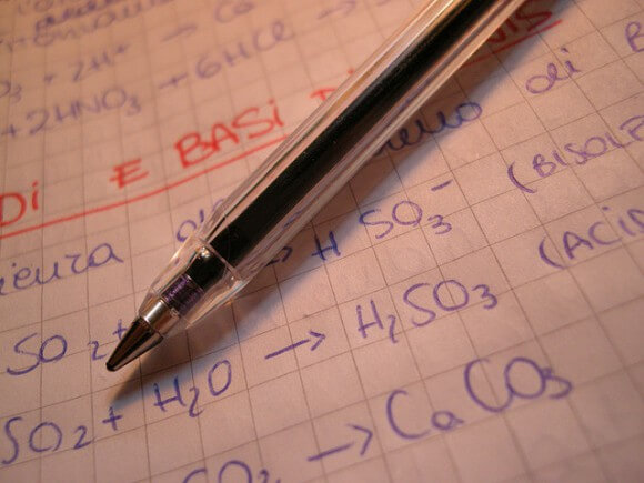 chemistry paperwork picture