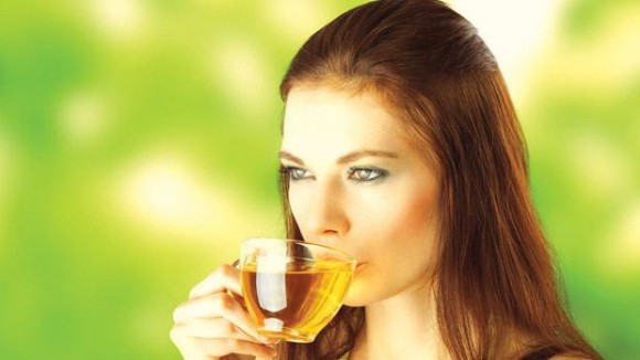 woman drinking tea picture