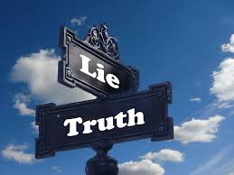 Lie and Truth Road Sign
