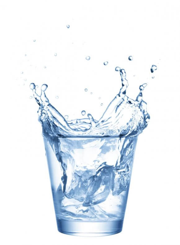 Hydrating water in glass for skin picture