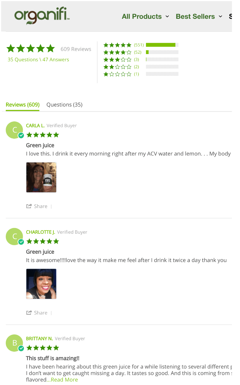Organifi Customer Reviews