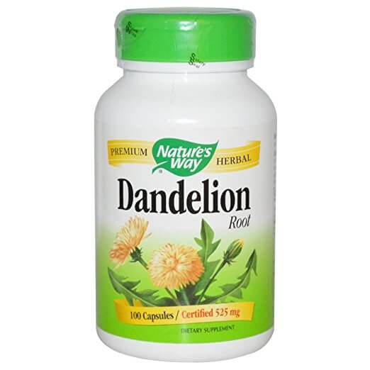 dandelion capsules bottle