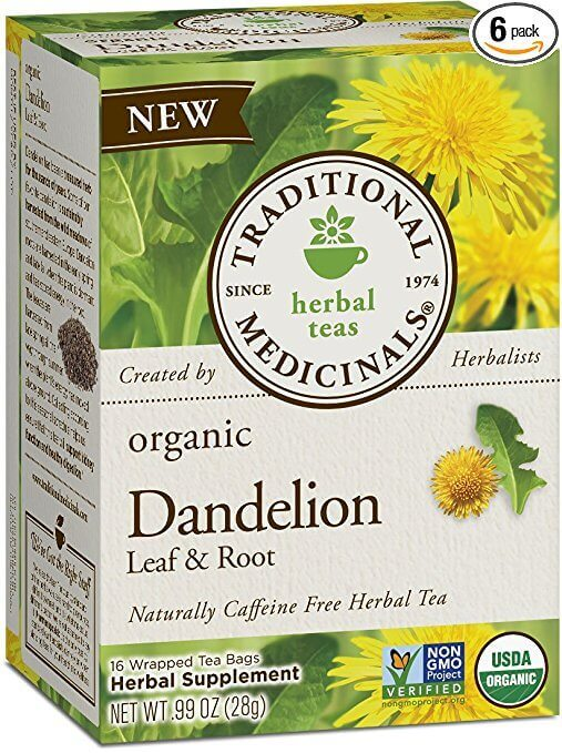 dandelion tea box