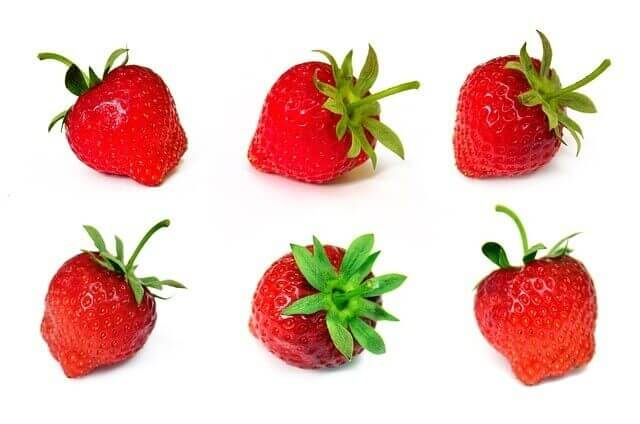 strawberries in line up